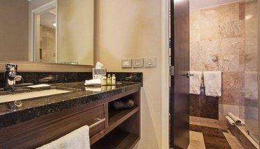 Baño habitación estándar Hotel Urban Aeropuerto Ciudad de México Ciudad de México